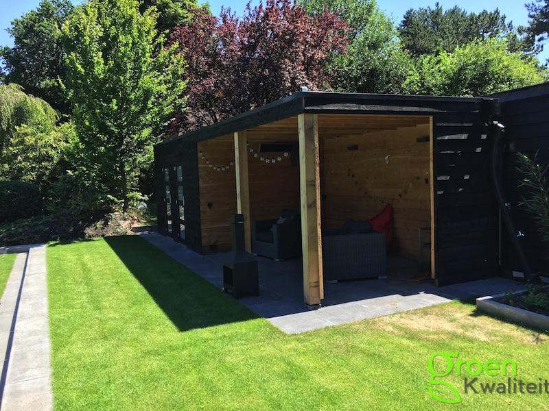 Tuinrenovatie in aerdenhout douglas houten schuur met for Tuinontwerp heemstede